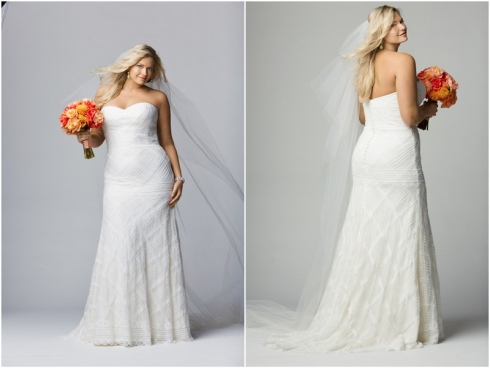Robe de mari e taille forte pr t porter f minin et for Robe taille plus pour mariage