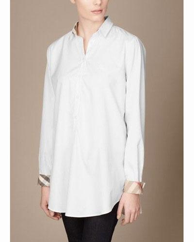 Assez Chemise longue blanche pour femme - Prêt à porter féminin et masculin KI26