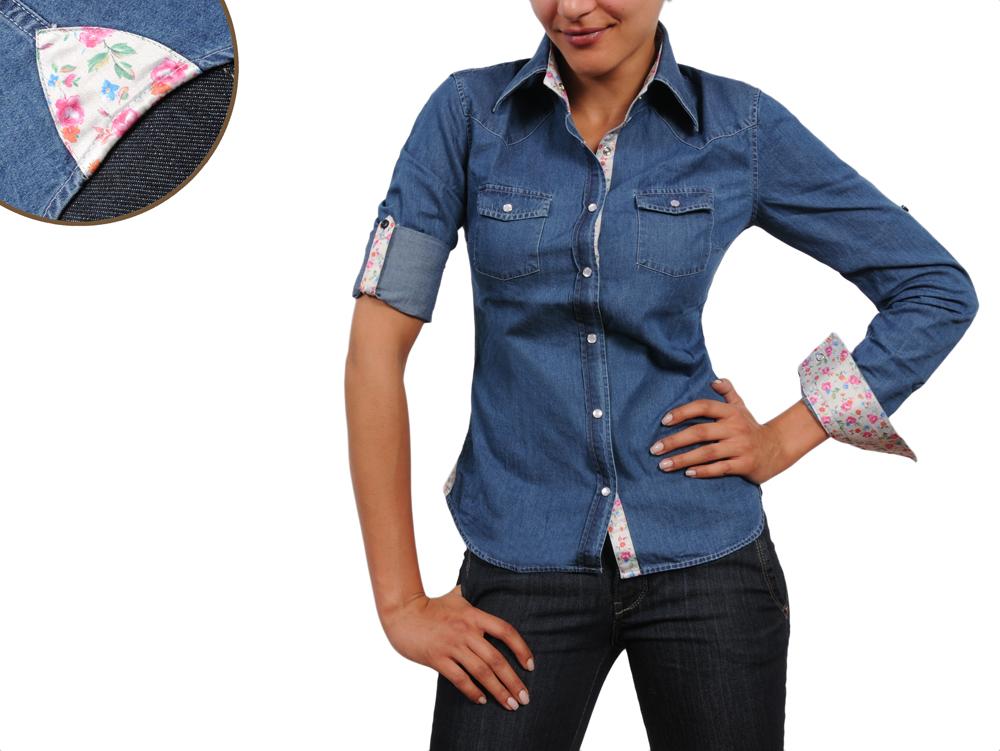 chemise jean cintr e femme pr t porter f minin et masculin. Black Bedroom Furniture Sets. Home Design Ideas