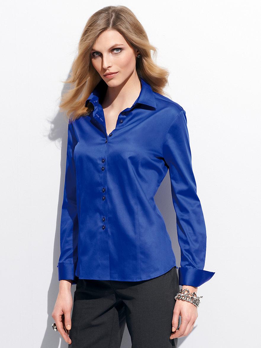 chemise femme bleu roi pr t porter f minin et masculin. Black Bedroom Furniture Sets. Home Design Ideas