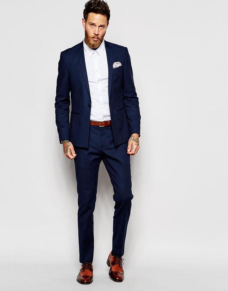 Costume homme bleu marine pour mariage pr t porter f minin et masculin - Costume homme pret a porter ...