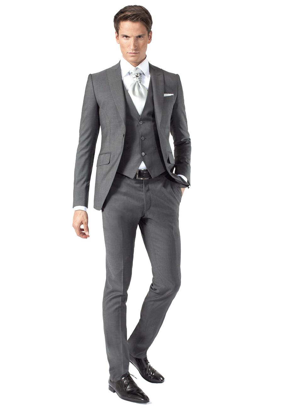 Costume gris satin homme pr t porter f minin et masculin - Costume homme pret a porter ...