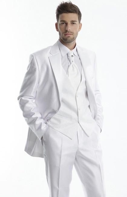 Costume mariage blanc homme - Prêt à porter féminin et