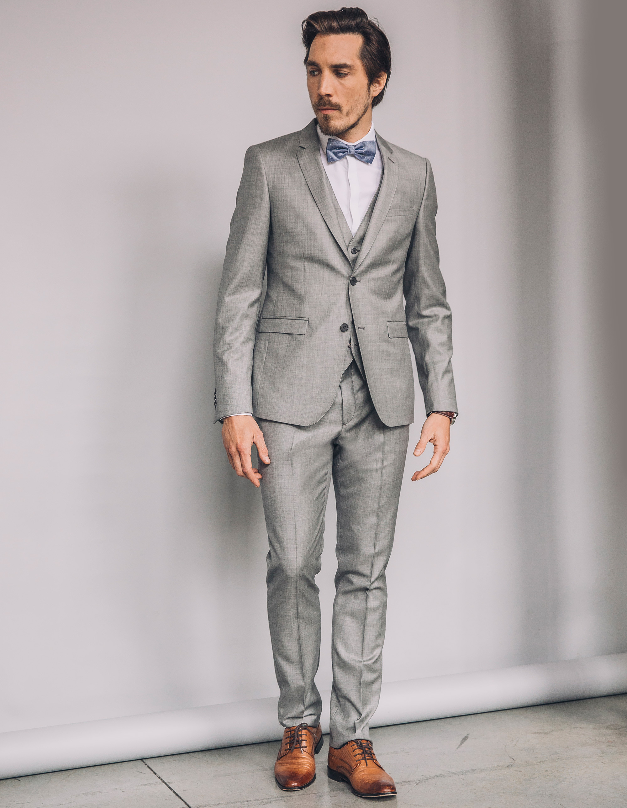 Costume homme gris slim pr t porter f minin et masculin - Costume homme pret a porter ...