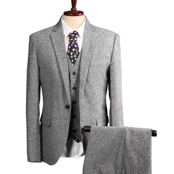 Costume homme 3 pieces gris pr t porter f minin et masculin - Costume homme pret a porter ...