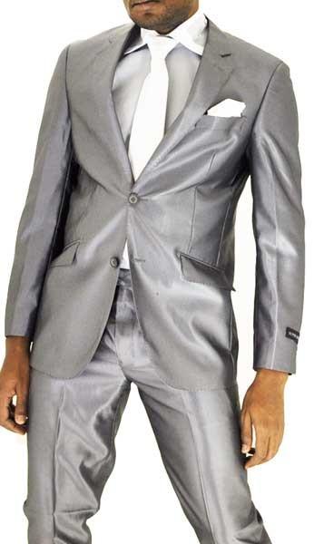 Costume gris brillant pour homme pr t porter f minin et masculin - Costume homme pret a porter ...