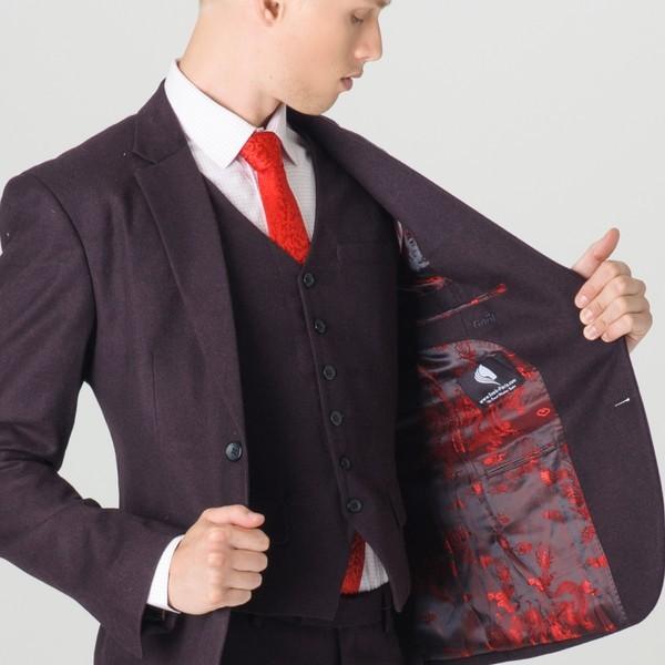 costume homme noir et rouge. Black Bedroom Furniture Sets. Home Design Ideas